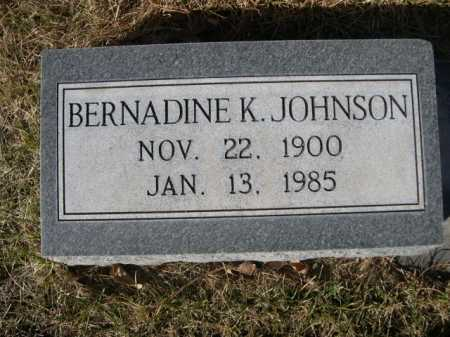 JOHNSON, BERNADINE K. - Dawes County, Nebraska | BERNADINE K. JOHNSON - Nebraska Gravestone Photos