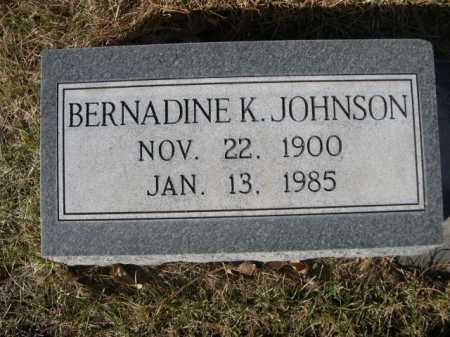 JOHNSON, BERNADINE K. - Dawes County, Nebraska | BERNADINE K. JOHNSON - Nebraska Gravestone Photos