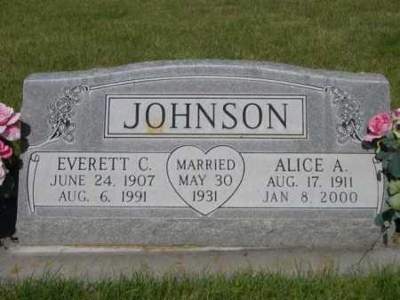 JOHNSON, EVERETT C. - Dawes County, Nebraska | EVERETT C. JOHNSON - Nebraska Gravestone Photos
