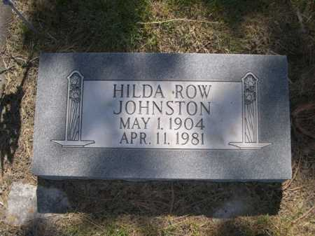 ROW JOHNSON, HILDA - Dawes County, Nebraska | HILDA ROW JOHNSON - Nebraska Gravestone Photos