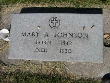 JOHNSON, MARY A. - Dawes County, Nebraska | MARY A. JOHNSON - Nebraska Gravestone Photos