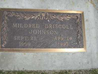 DRISCOLL JOHNSON, MILDRED - Dawes County, Nebraska | MILDRED DRISCOLL JOHNSON - Nebraska Gravestone Photos