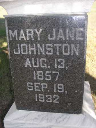 JOHNSTON, MARY JANE - Dawes County, Nebraska | MARY JANE JOHNSTON - Nebraska Gravestone Photos