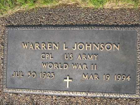 JOHNSON, WARREN L. - Dawes County, Nebraska | WARREN L. JOHNSON - Nebraska Gravestone Photos