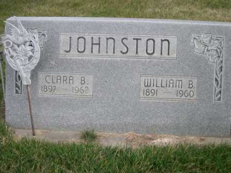 JOHNSTON, WILLIAM B. - Dawes County, Nebraska | WILLIAM B. JOHNSTON - Nebraska Gravestone Photos