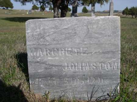 JOHNSTON, MARGRETE - Dawes County, Nebraska | MARGRETE JOHNSTON - Nebraska Gravestone Photos