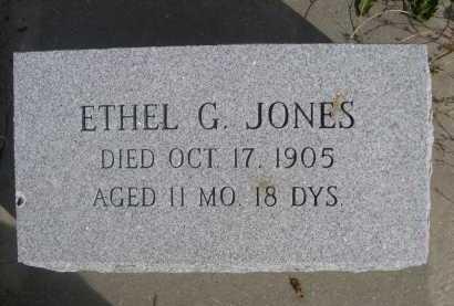 JONES, ETHEL G. - Dawes County, Nebraska   ETHEL G. JONES - Nebraska Gravestone Photos