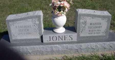 LEETCH JONES, F LOURINE - Dawes County, Nebraska | F LOURINE LEETCH JONES - Nebraska Gravestone Photos