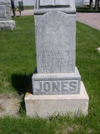 GILLESPIE JONES, GRACE A. - Dawes County, Nebraska | GRACE A. GILLESPIE JONES - Nebraska Gravestone Photos