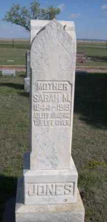 JONES, SARAH M. - Dawes County, Nebraska   SARAH M. JONES - Nebraska Gravestone Photos