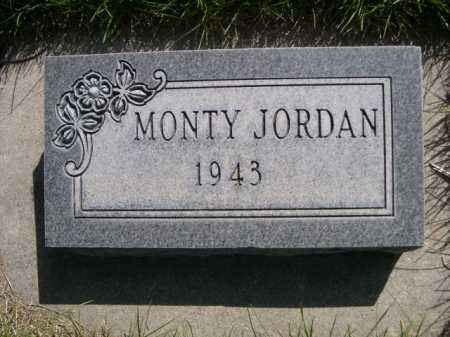 JORDAN, MONTY - Dawes County, Nebraska | MONTY JORDAN - Nebraska Gravestone Photos