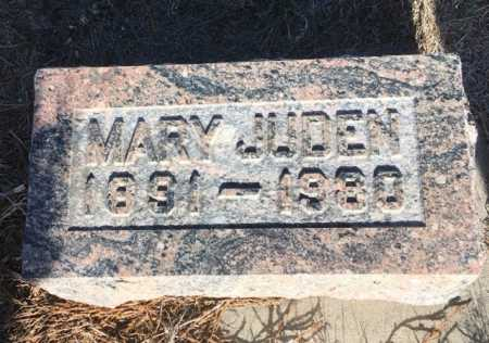 JUDEN, MARY - Dawes County, Nebraska | MARY JUDEN - Nebraska Gravestone Photos