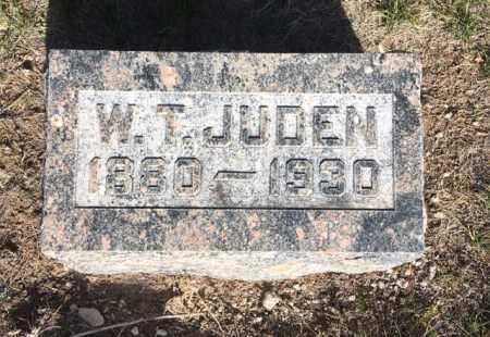 JUDEN, W.T. - Dawes County, Nebraska | W.T. JUDEN - Nebraska Gravestone Photos