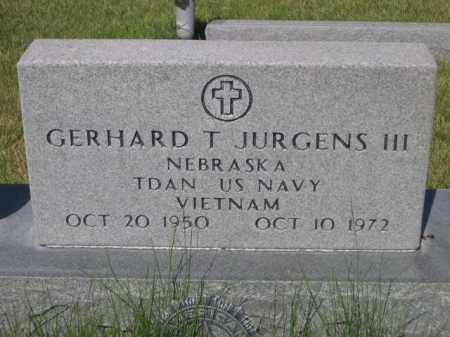 JURGENS, GERHARD T. III - Dawes County, Nebraska | GERHARD T. III JURGENS - Nebraska Gravestone Photos