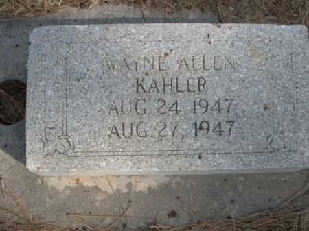 KAHLER, WAYNE ALLEN - Dawes County, Nebraska | WAYNE ALLEN KAHLER - Nebraska Gravestone Photos