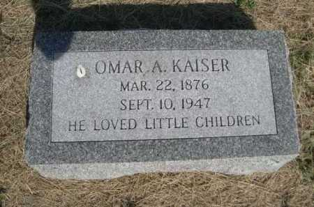 KAISER, OMAR A. - Dawes County, Nebraska | OMAR A. KAISER - Nebraska Gravestone Photos