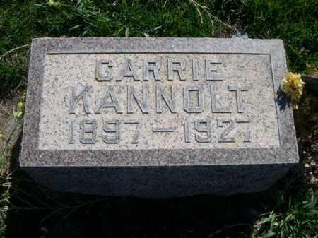 KANNOLT, CARRIE - Dawes County, Nebraska | CARRIE KANNOLT - Nebraska Gravestone Photos