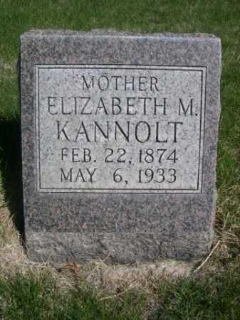 KANNOLT, ELIZABETH M. - Dawes County, Nebraska   ELIZABETH M. KANNOLT - Nebraska Gravestone Photos