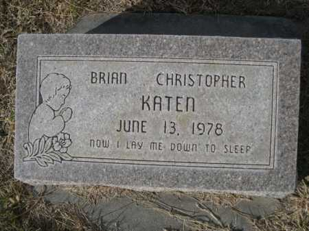 KATEN, BRIAN CHRISTOPHER - Dawes County, Nebraska | BRIAN CHRISTOPHER KATEN - Nebraska Gravestone Photos