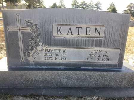 KATEN, EMMETT W. - Dawes County, Nebraska | EMMETT W. KATEN - Nebraska Gravestone Photos