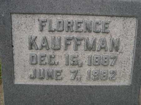 KAUFFMAN, FLORENCE - Dawes County, Nebraska   FLORENCE KAUFFMAN - Nebraska Gravestone Photos