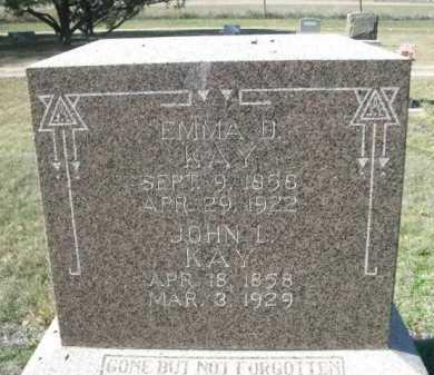 KAY, JOHN L. - Dawes County, Nebraska | JOHN L. KAY - Nebraska Gravestone Photos