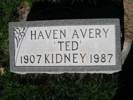 "KIDNEY, HAVEN AVERY ""TED"" - Dawes County, Nebraska | HAVEN AVERY ""TED"" KIDNEY - Nebraska Gravestone Photos"