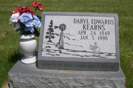 KEARNS, DARYL EDWARDS - Dawes County, Nebraska | DARYL EDWARDS KEARNS - Nebraska Gravestone Photos