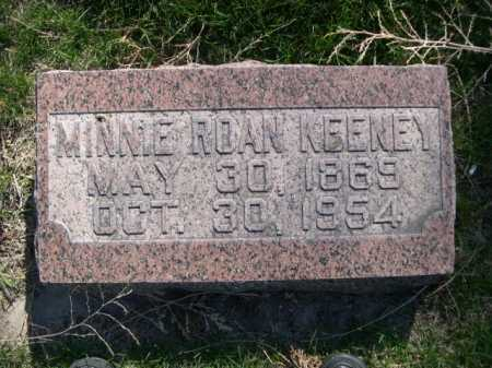KEENEY, MINNIE ROAN - Dawes County, Nebraska | MINNIE ROAN KEENEY - Nebraska Gravestone Photos