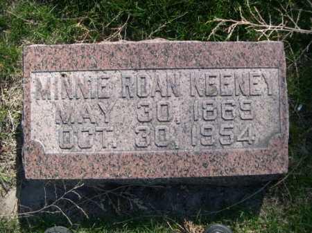 KEENEY, MINNIE ROAN - Dawes County, Nebraska | MINNIE ROAN KEENEY - Nebraska Gravestone Photos