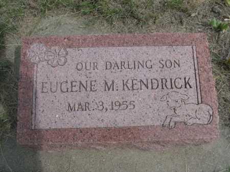 KENDRICK, EUGENE M. - Dawes County, Nebraska | EUGENE M. KENDRICK - Nebraska Gravestone Photos