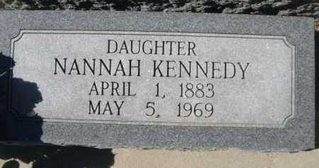 KENNEDY, NANNAH - Dawes County, Nebraska | NANNAH KENNEDY - Nebraska Gravestone Photos