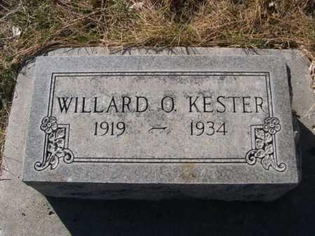 KESTER, WILLARD O. - Dawes County, Nebraska | WILLARD O. KESTER - Nebraska Gravestone Photos
