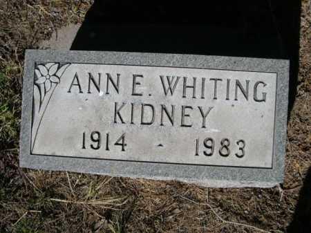 KIDNEY, ANN E. - Dawes County, Nebraska | ANN E. KIDNEY - Nebraska Gravestone Photos