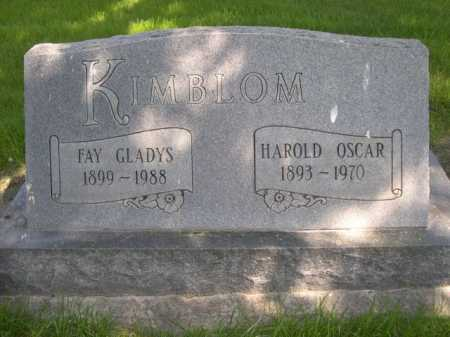 KIMBLOM, HAROLD OSCAR - Dawes County, Nebraska | HAROLD OSCAR KIMBLOM - Nebraska Gravestone Photos