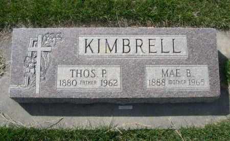 KIMBRELL, THOS. P. - Dawes County, Nebraska   THOS. P. KIMBRELL - Nebraska Gravestone Photos