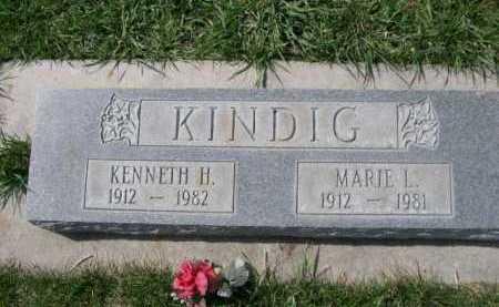 KINDIG, MARIE L. - Dawes County, Nebraska | MARIE L. KINDIG - Nebraska Gravestone Photos