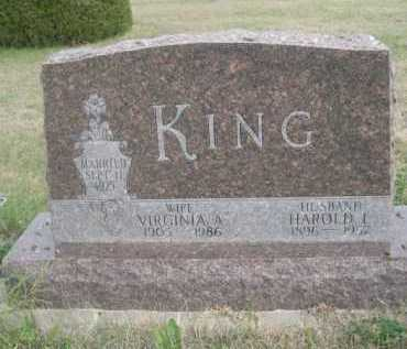KING, VIRGINIA A. - Dawes County, Nebraska | VIRGINIA A. KING - Nebraska Gravestone Photos