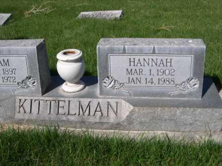 KITTELMAN, HANNAH - Dawes County, Nebraska | HANNAH KITTELMAN - Nebraska Gravestone Photos