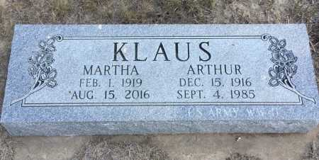 KLAUS, MARTHA - Dawes County, Nebraska | MARTHA KLAUS - Nebraska Gravestone Photos