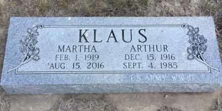 KLAUS, ARTHUR - Dawes County, Nebraska | ARTHUR KLAUS - Nebraska Gravestone Photos