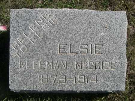 KLEEMAN - MCBRIDE, ELSIE - Dawes County, Nebraska | ELSIE KLEEMAN - MCBRIDE - Nebraska Gravestone Photos