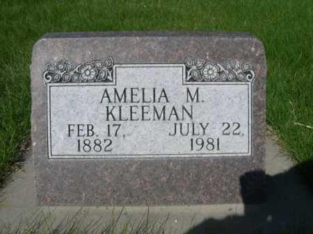 KLEEMAN, AMELIA M. - Dawes County, Nebraska   AMELIA M. KLEEMAN - Nebraska Gravestone Photos
