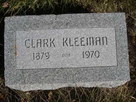 KLEEMAN, CLARK - Dawes County, Nebraska | CLARK KLEEMAN - Nebraska Gravestone Photos