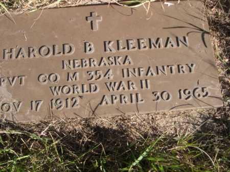 KLEEMAN, HAROLD B. - Dawes County, Nebraska | HAROLD B. KLEEMAN - Nebraska Gravestone Photos