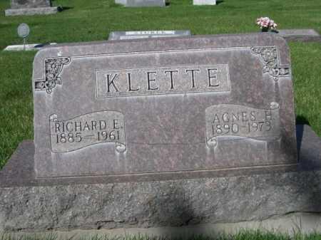 KLETTE, RICHARD E. - Dawes County, Nebraska | RICHARD E. KLETTE - Nebraska Gravestone Photos