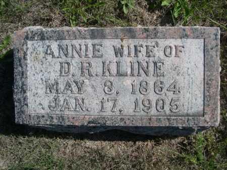 KLINE, ANNIE - Dawes County, Nebraska | ANNIE KLINE - Nebraska Gravestone Photos