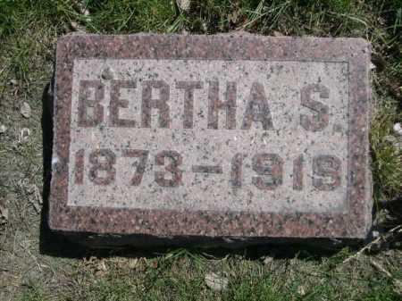 KLINGAMAN, BERTHA S. - Dawes County, Nebraska   BERTHA S. KLINGAMAN - Nebraska Gravestone Photos