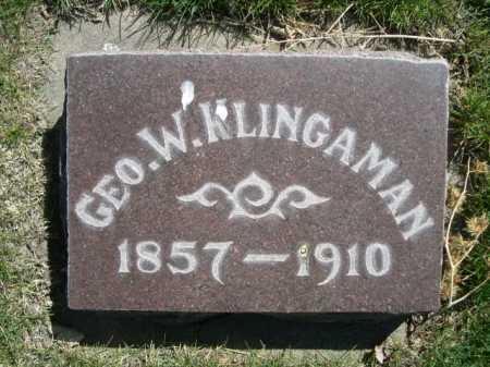 KLINGAMAN, GEO. W. - Dawes County, Nebraska | GEO. W. KLINGAMAN - Nebraska Gravestone Photos