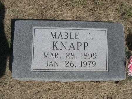 KNAPP, MABLE E. - Dawes County, Nebraska | MABLE E. KNAPP - Nebraska Gravestone Photos